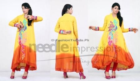 Needle Impressions Premium Eid Dresses 2013 (1)
