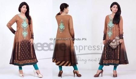 Needle Impressions Premium Eid Dresses 2013 (4)