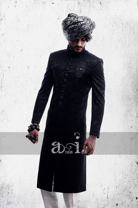 Arsalan-Iqbal-Beautiful-Wedding-Sherwani-Collection-2013-For-Men's photo