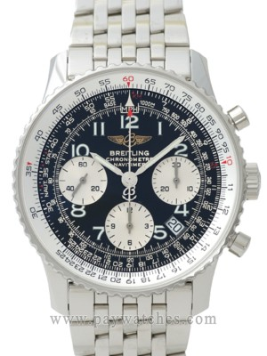Breitling Fully Automatic Watch Silver Color