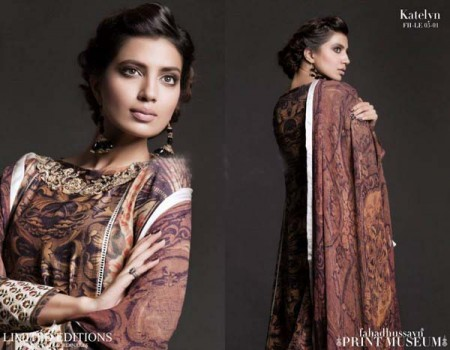 Fahad Hussayn Print Museum Collection Dresses 2013 for Bakra Eid photo pics