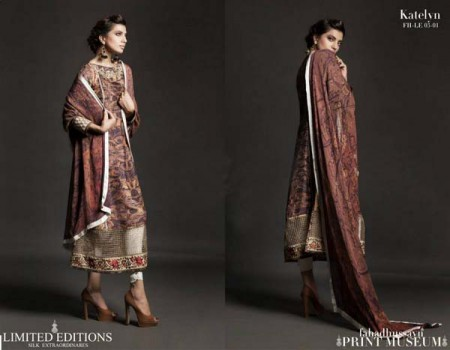 Fahad Hussayn Print Museum Collection Dresses 2013 for Bakra Eid photo photo