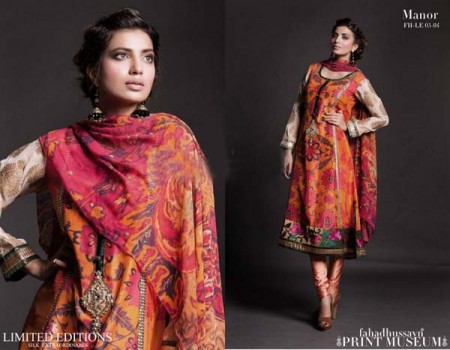 Fahad Hussayn Print Museum Collection Dresses 2013 for Bakra Eid photo