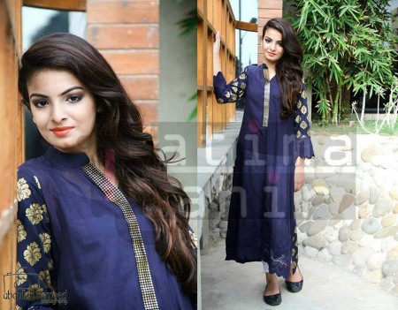 Fatima Tahir Midsummer Women Collection 2013 blue dark dress