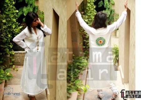 Fatima Tahir Midsummer Women Collection 2013 white dress 2