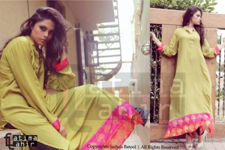 Fatima Tahir Midsummer Women Collection 2013 green dress