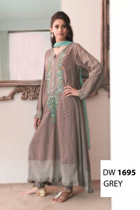 Maria B Winter Cotton Dresses Design 2013-2014 pics