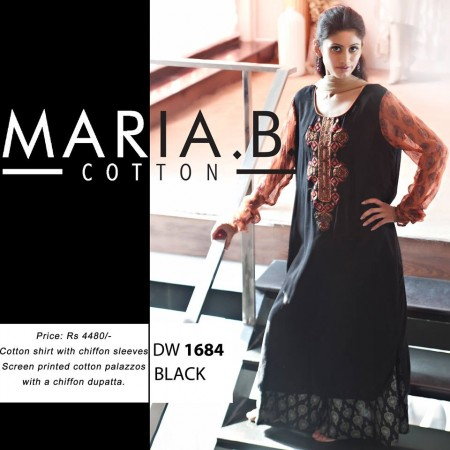 Maria B Winter Cotton Dresses Design 2013-2014 photo