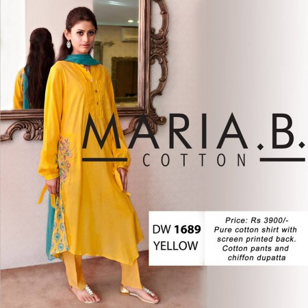 Maria B Winter Cotton Dresses Design 2013-2014 snap
