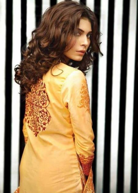 Orient Textile Midsummer Women Collection 2013 Yellow Color Dress Image