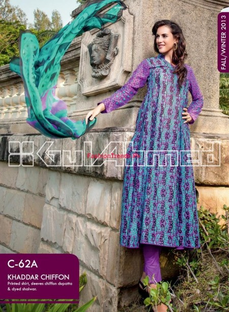 Gul Ahmed Fall Winter Collection 2013