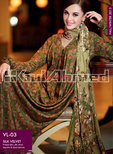 Gul Ahmed Fall Winter Collection Contrast Color