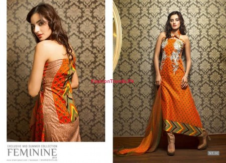 Feminine Mid Summer Collection By Shariq Textile 2013