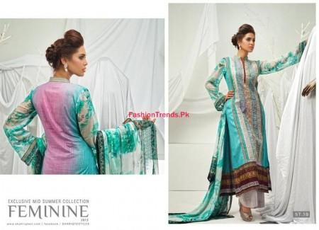 Feminine Mid Summer Dresses By Shariq Textile For Women