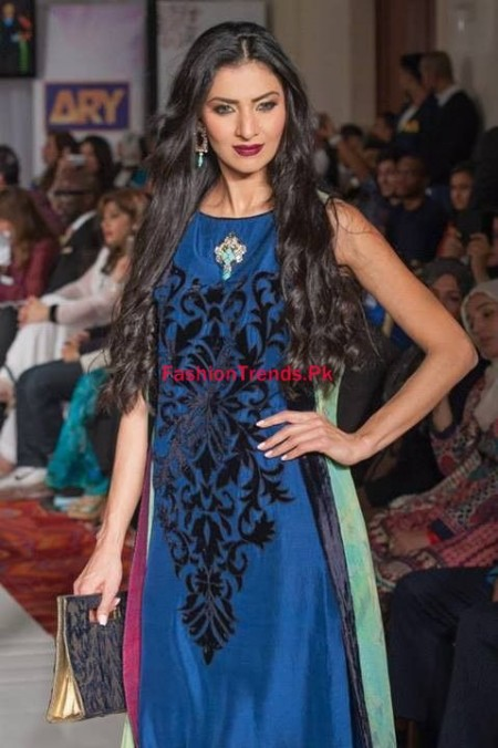 Gul Ahmed Winter Dresses For Women 2013-2014 at Pakistan Fashion Week