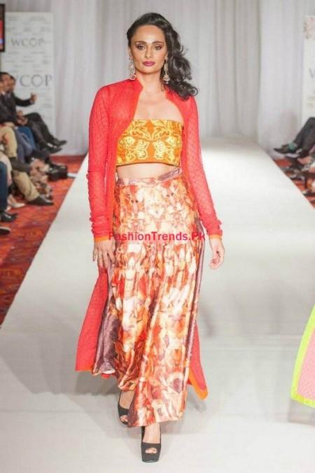 At Pakistan Fashion Week Kiran Komal Collection 2013-2014