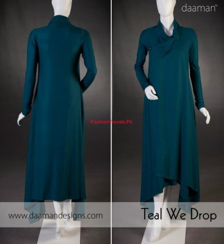 Latest Stylish Daaman Winter Dress For Women