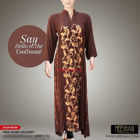 Meeshan Winter Stylish Long Dresses 2013 2014