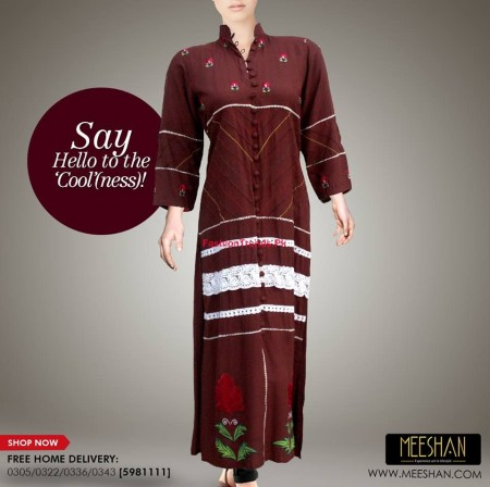 Meeshan Winter Stylish Long Dresses