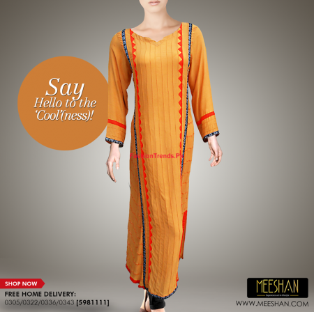 Meeshan Winter Stylish Long Dresses 2013-2014