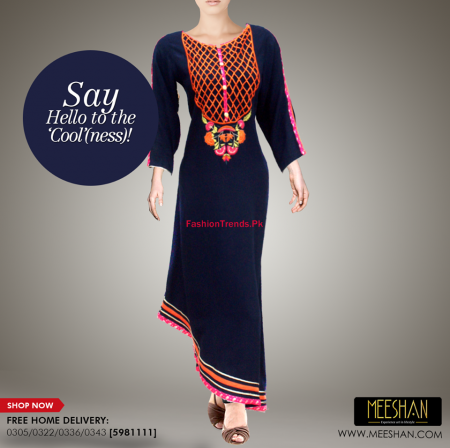 Meeshan Winter Long Dresses Collection