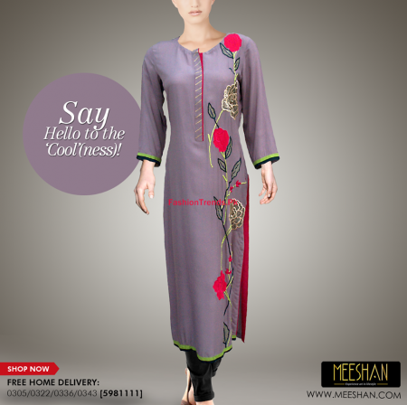 Meeshan Winter Long Dresses Collection 2013-2014