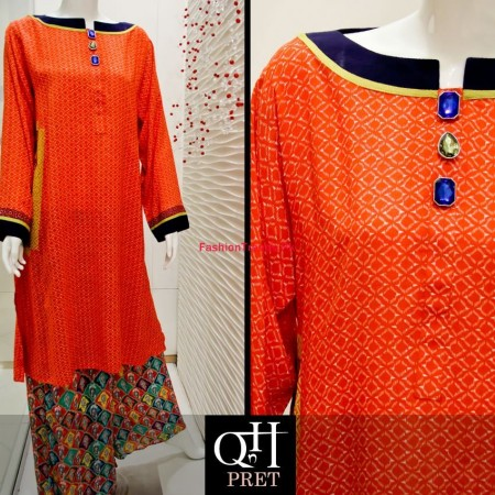 QnH Long Shirt Winter Dress Collection 2013 For Women
