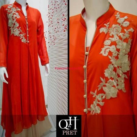 QnH Long Shirt Winter Dress Designs 2013