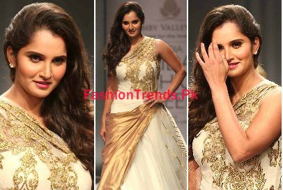Tennis Player Sania Mirza Cat Walk Images in Mumbai Fashon Week