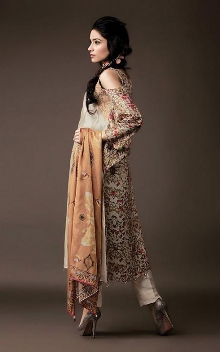 Crescent Winter Dresses 2013-2014 by Faraz Manan
