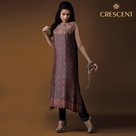 Crescent Winter Dresses 2013-2014 by Faraz Manan