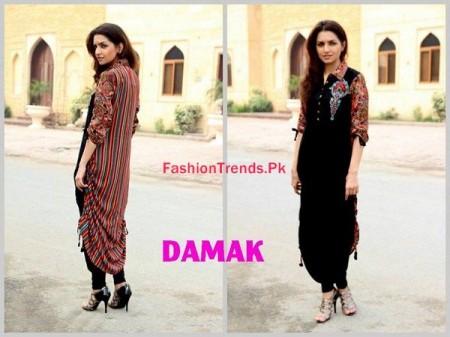 Winter Dresses For Women By Damak 2013-2014