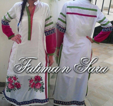 Fatima N Sara Women Winter Dresses 2013-2014