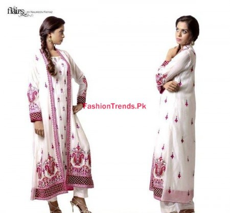 Flairs By Naureen Fayyaz Winter Dresses