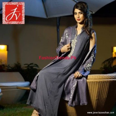 Winter Dresses Collection For Women by Javeria Zeeshan