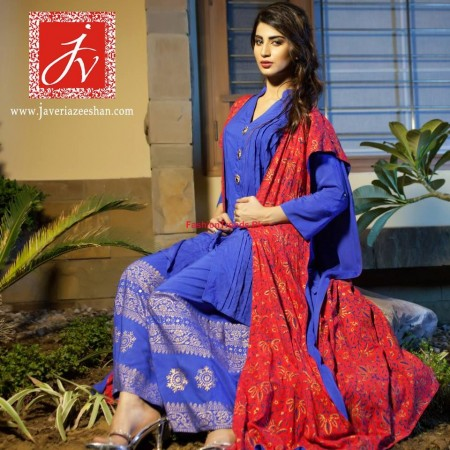 Winter Dresses Collection by Javeria Zeeshan