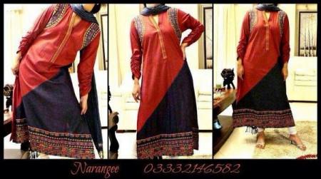 Narangee Winter Dresses 2013-2014 For Women
