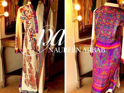 Naureen Arbab Party Wear Dresses 2014 For Winter