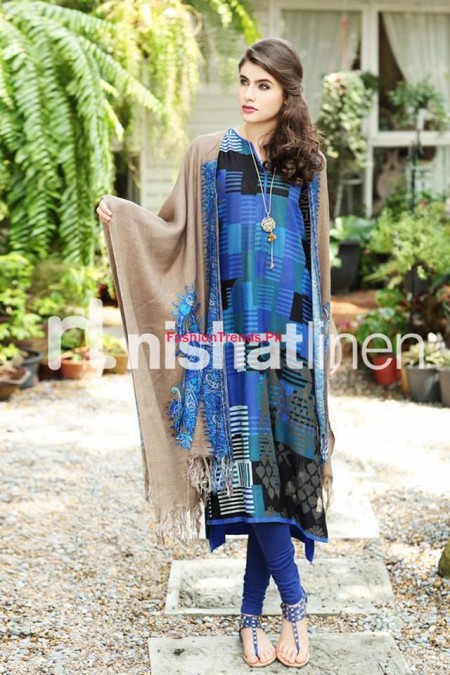 Nishat Linen Latest Winter Wear For Women 2013-2014