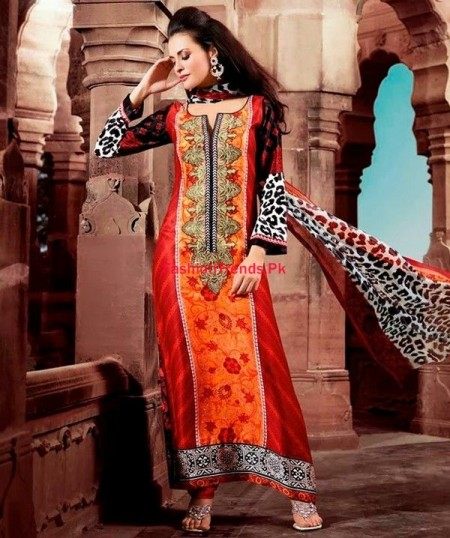 Pashmina Indian Dresses 2013-2014