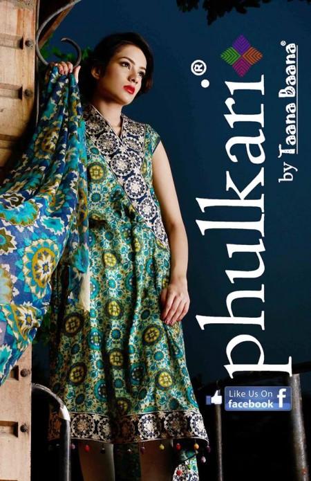 Phulkari by Taana Baana Winter Dresses 2013-2014 For Girls