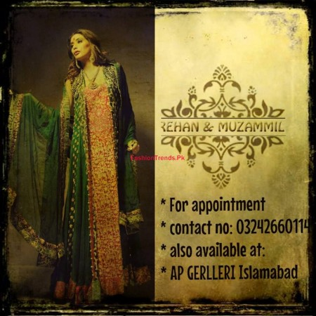 Rehan and Muzammil Formal Wear Collection 2014 For Women