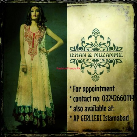 Rehan and Muzammil Formal Wear Dresses Collection