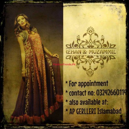 Rehan and Muzammil Formal Wear Dresses 2014