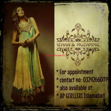 Rehan and Muzammil Formal Wear 2014 for Women