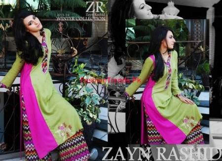 Semi Formal Winter Dresses 2013-14 Zayn Rashid