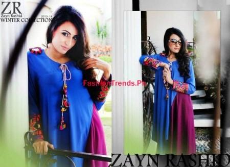 Winter Dresses Collection 2013-14 By Zayn Rashid