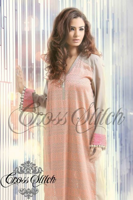 Cross Stitch Winter Dresses 2014 For Women