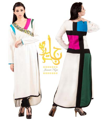 Jannat Nazir Women Winter Dresses 2014