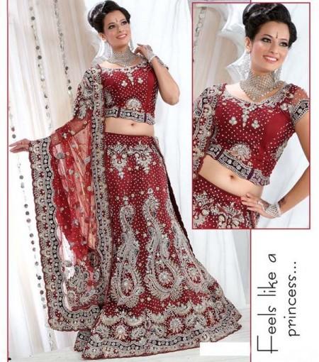 Simple Women Wear Dress Lehenga Sarees For Parties 2014  Lehengapk